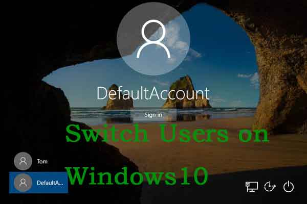switch users on Windows 10