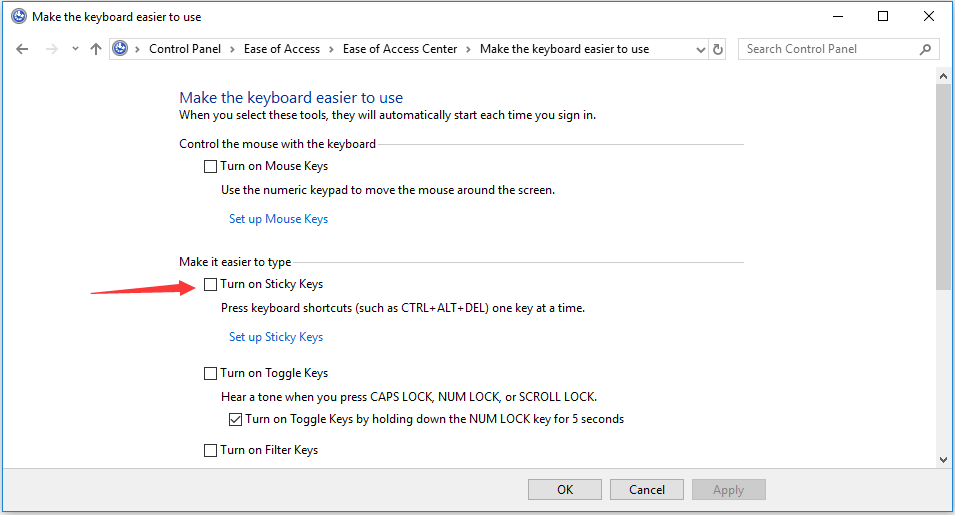 How to Turn Off Sticky Keys on Windows 10 (4 Ways) - MiniTool