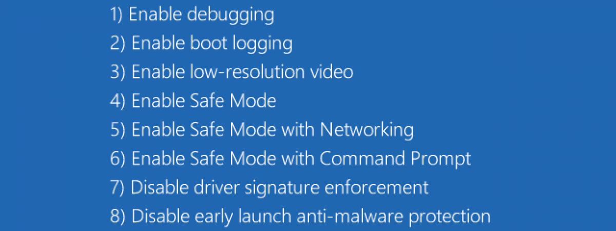 Choose Enable Safe Mode with Networking