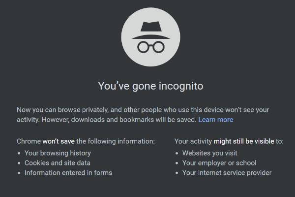 how to turn on incognito mode