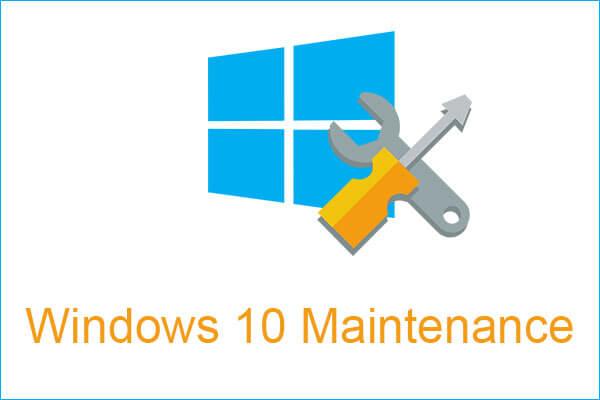 windows 10 bakım küçük resmi