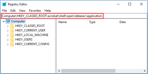 Methods to the Acrobat Failed to Connect to a DDE Server Error