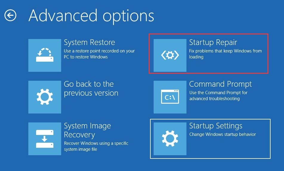 Startup Repair Windows 10