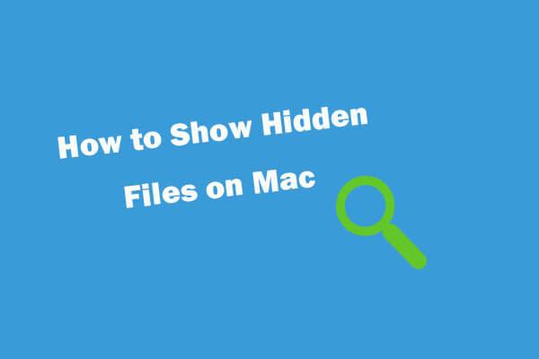 How to Show Hidden Files Mac Mojave/Catalina/High Sierra