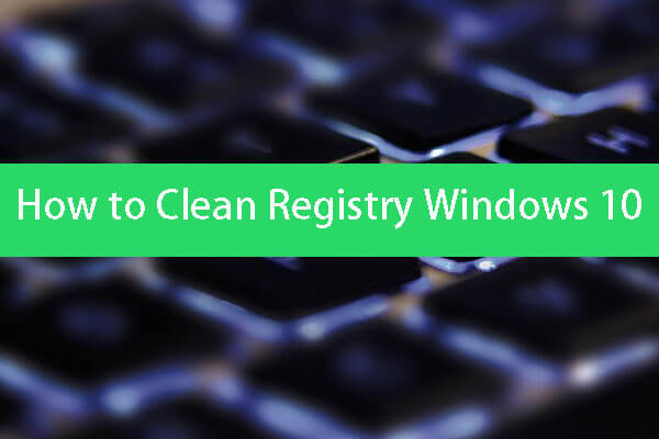 how to clean registry windows 10 thumbnail