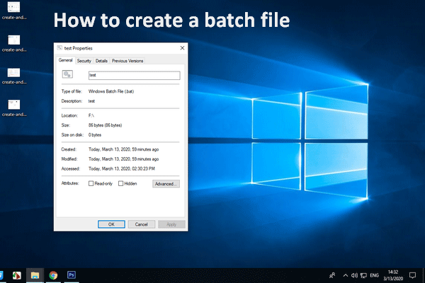 How to create a batch file