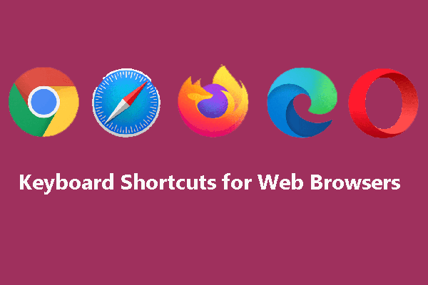 keyboard shortcuts for web browsers