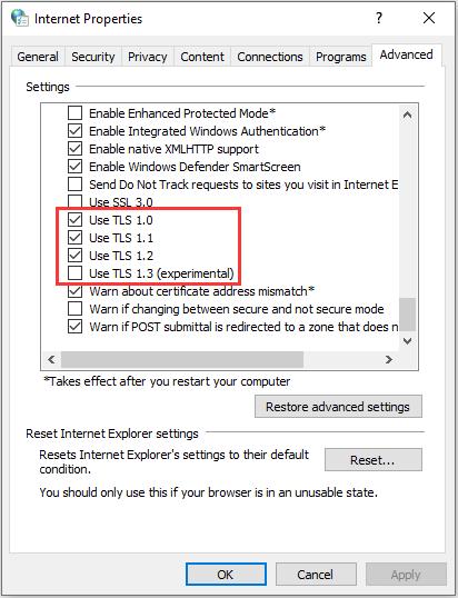 enable TLS