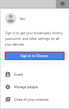 Sign in to Chrome
