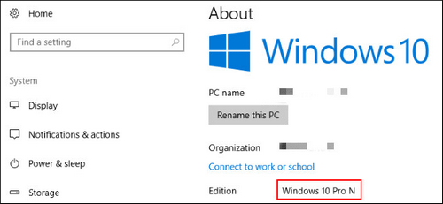 Windows 10 Pro N