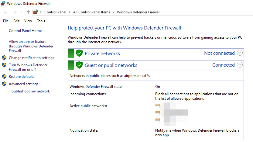 how to get through the firewall
