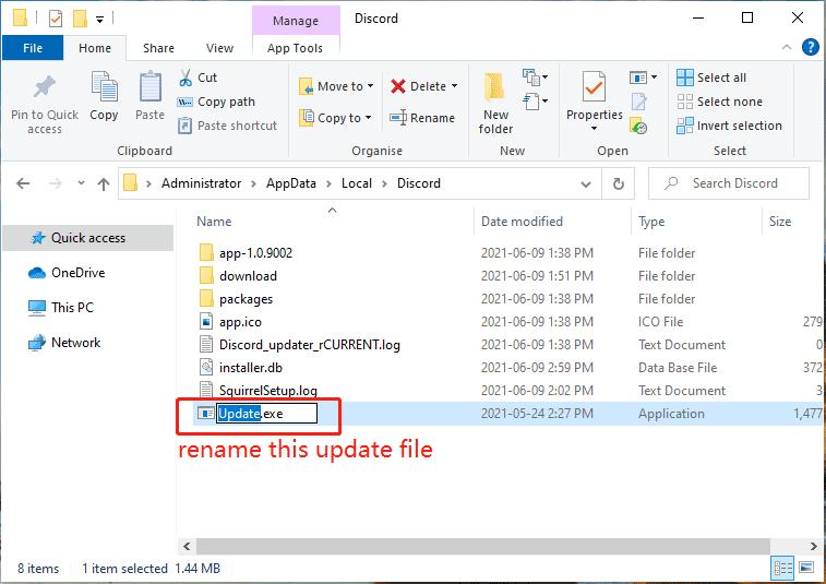rename the Discord update file